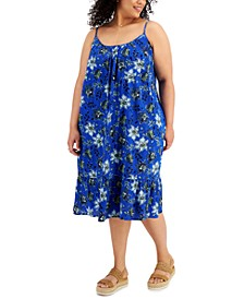 Plus Size Floral Dress, Created for Macy's