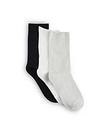 Women's Polytam Crew Socks, Pack Of 3