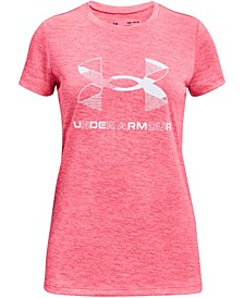 Big Girls Graphic Twist Big Logo Short Sleeve T-shirt