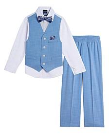 Little Boys Bold Dobby Vest, 5-piece Set