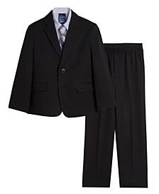 Toddler Boys Solid Texture Suit, 4-piece Set
