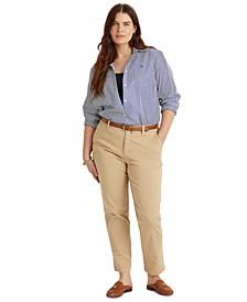Plus-Size Slim Fit Stretch Chino Pants