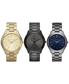 Unisex Slim Runway Stainless Steel Bracelet Watch