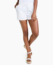 Petite Cotton Eyelet Pull-On Shorts, Created for Macy's