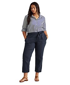 Plus Size Linen Pants