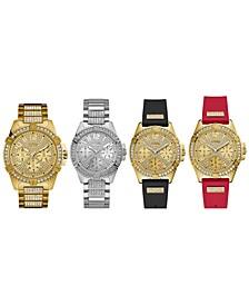 Unisex Pavé Crystal Watch