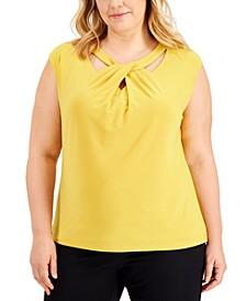 Plus Size Criss-Cross-Neck Top