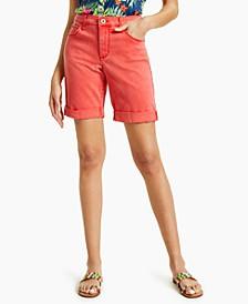 Cuffed Denim Bermuda Shorts, Created for Macy's