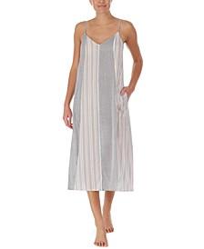 Multi-Stripe Maxi Nightgown