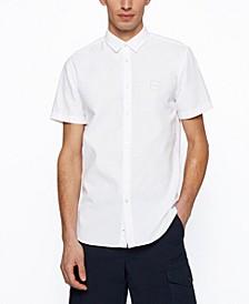 BOSS Men's Peached-Cotton Slim-Fit Shirt