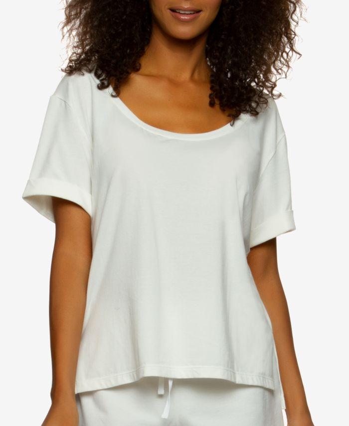 Felina Organic Cotton Scoop Neck Loungewear T-Shirt & Reviews - All Pajamas, Robes & Loungewear - Women - Macy's