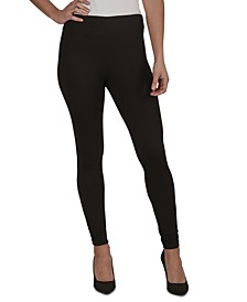 Juniors' Ruched-Ankle Rib-Knit Leggings
