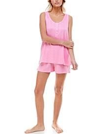 Ribbed Tank Top & Shorts Loungewear Set