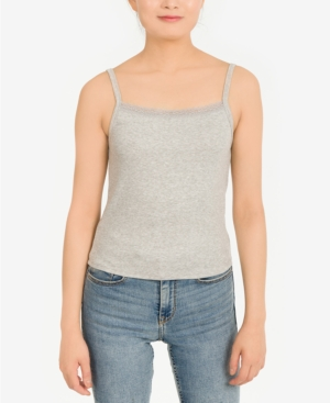 Juniors' Lace-Trimmed Tank Top