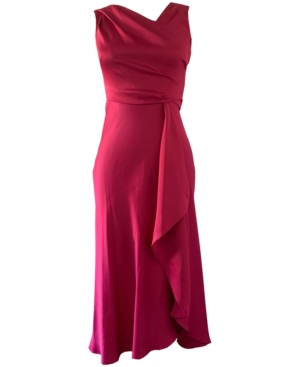 70s Prom, Formal, Evening, Party Dresses Taylor Waterfall-Skirt Gathered Dress $129.00 AT vintagedancer.com