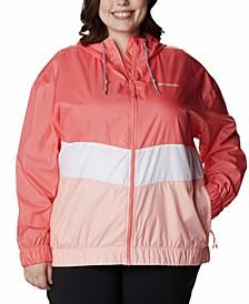 Plus Size Sandy Sail Windbreaker Jacket