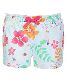 Toddler Girls Floral-Print Cotton Shorts, Created for Macy's