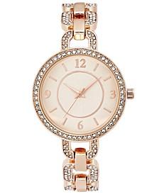 Women's Pavé Rose Gold-Tone Bracelet Watch 33mm, Created for Macy's