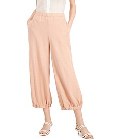 Petite Wide-Leg Cropped Joggers, Created for Macy's