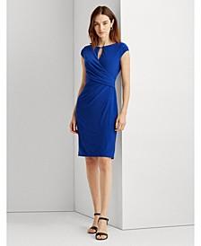 Petite Wrap-Style Jersey Dress