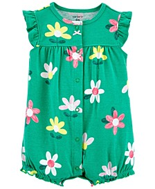 Baby Girls Floral Snap-Up Romper