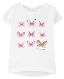 Toddler Girls Butterfly Jersey Tee