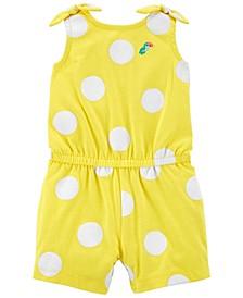 Baby Girls Polka Dot Cotton Romper