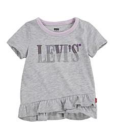 Little Girls Ruffle Hem Tunic T-shirt