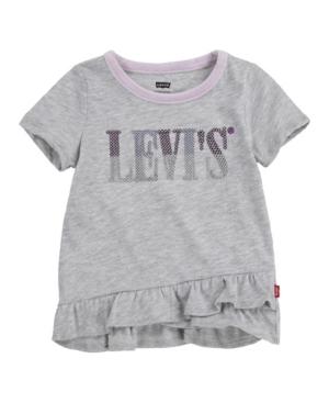 Levi's Tunics LITTLE GIRLS RUFFLE HEM TUNIC T-SHIRT