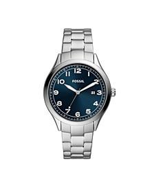 Men's Wyle Three-Hand Silver-Tone Stainless Steel Bracelet Watch 42mm