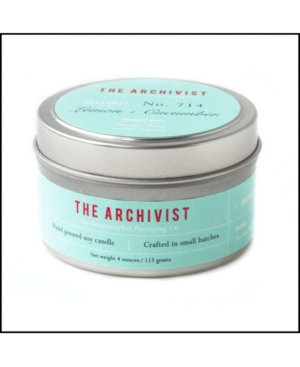 Archivist Lemon and Cucumber Soy Candle, 4 oz
