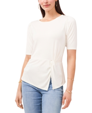 Vince Camuto Tops SOLID SIDE-TWIST SPLIT-HEM TOP