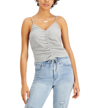 Juniors' Ruched-Front Tank Top