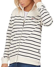 Folkestone Cotton Striped Zip Sweater