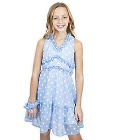 Big Girls Ruffle Dot Dress