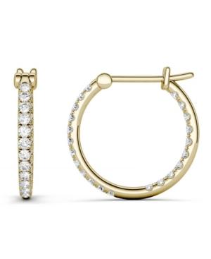 Moissanite Hoop Earrings 3/8 ct. t.w. Diamond Equivalent in 14k Gold
