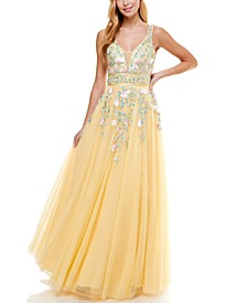 Floral Embroidered Gown, Created for Macy's
