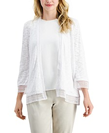 Crochet-Trim Cardigan, Created for Macy's