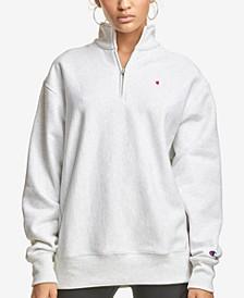 Women's Zip-Neck Sweatshirt