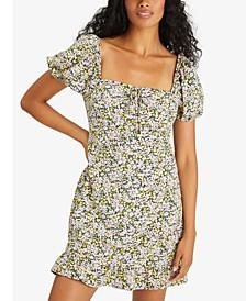 Fresh Breeze Ditsy-Print Ruffled-Hem Dress
