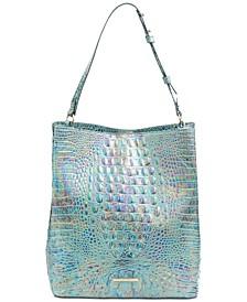 Amelia Melbourne Embossed Leather Bucket Bag