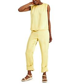 Satin Cuffed Pants, Created for Macy's