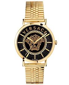 Men's Swiss Gold-Tone Stainless Steel Bracelet Watch 40mm