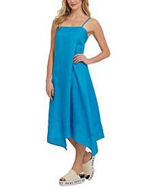 Linen Handkerchief-Hem Dress