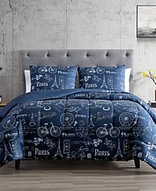 Paris Minuit 3-Pc. Reversible Full/Queen Comforter Set