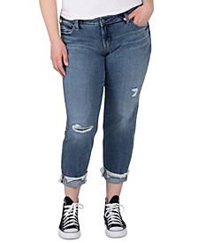 Plus Trendy Distressed Boyfriend Jeans