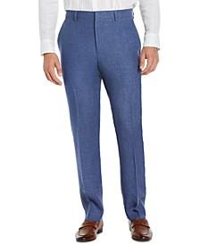 Men's Classic-Fit Délavé Linen Dress Pants