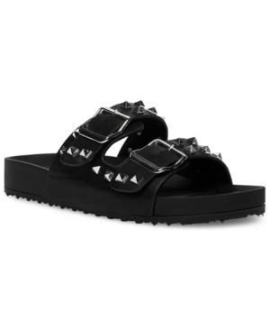 Teddy Studded Slide Sandals