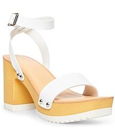 Caprise Wooden Platform Sandals