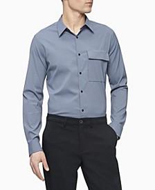 Men's Solid Tech Button Down Shirt